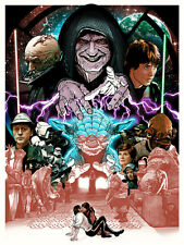 Joshua Budich Like My Father Before Me Return of the Jedi Poster Skywalker Vader