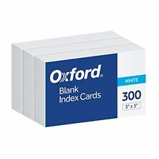 Oxford Blank Index Cards 3 X 5 White 300 Pack 10013 Free Shiping