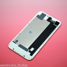 White iPhone 4 Back Glass Rear Case Door Battery Cover CDMA replacement