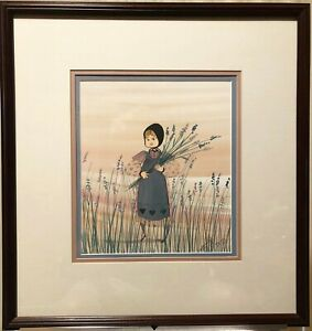 HOPE, P. Buckley Moss limited Edition Framed Print, Signed in Pencil, 642/1000