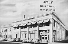 Lincoln NE Back to the Bible Radio~Jesus Blood Cleanses From Every Sin 1940s B&W