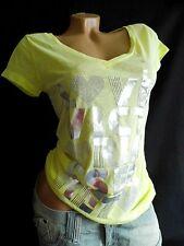 Größe S: VICTORIA´S SECRET T-SHIRT/Shirt/TOP-sonnengelb-Rarität-Silber-Print-NEU