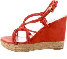prada Wedges Suede Orange Platform Wedges sandals shoes Size 40.5 Us 10/5