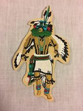 "Vintage Native American Indian Full Head Dress Dance Costume Patch  5""x 2"""