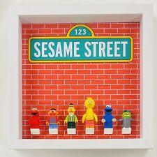 Display Case Frame for Lego Sesame Street 21324 Minifigures 25cm
