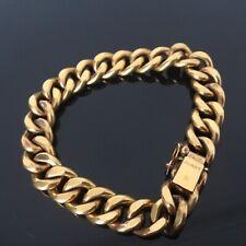 MURAT Superbe Bracelet Maille Gourmette en Plaqué Or Gold Filled Bangle