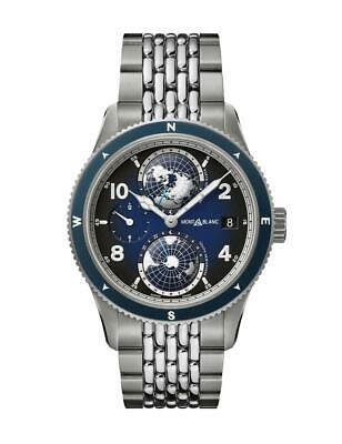NEW Montblanc 125567 Geosphere Automatic 1858 GMT 42mm Titanium Men's Watch