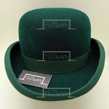 CLASSIC Wool Felt Dura Bowler Boys Top Hat Kids Derby Lined Girls | 52cm | Green