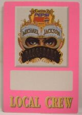 MICHAEL JACKSON - VINTAGE ORIGINAL CONCERT TOUR CLOTH BACKSTAGE PASS