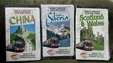 Worlds Greatest Train Rides LOT of 3 - Trans-Siberia, China,Scotland - VHS - NEW