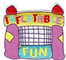Girl Boy Cub INFLATABLE FUN Patches Crests Badges SCOUTS GUIDES jumping house