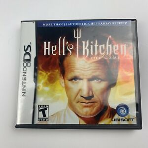 Hell's Kitchen The Game Chef Gordon Ramsay Nintendo DS Complete Manual - Tested