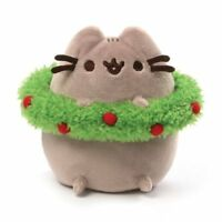 Gund New * Pusheen Christmas Wreath * Holiday Cat 4.5 Inch Plush Kitty Tabby