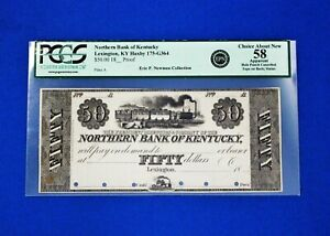 1800's $50 Northern Bank of Lexington Kentucky Extremely ONLY ONE KNOWN TO EXIST