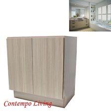 """36"""" European Style Double Door Bathroom Vanity / Cabinet - Birch Wood Pattern"""