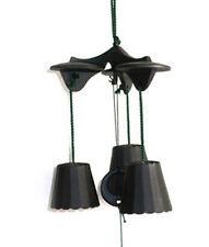 Japanese Furin Wind Chime Nanbu Cast Iron Iwachu Black 3-Bells, Made in Japan