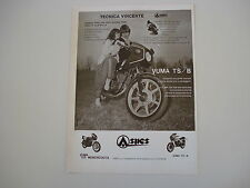 advertising Pubblicità 1981 MOTO ASPES JUMA YUMA 125 TS/B