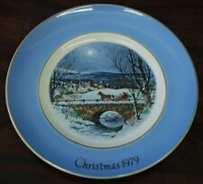 Avon/Wedgwood Lt Ed Plate: Dashing Through the Snow '79