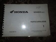 HONDA SZX50S/W/X/Y PARTS BOOK 13GCMY-11