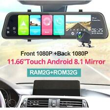 Android 8.1 HD Car DVR WiFi GPS Rearview Mirror Dash Cam Recorder Camera Kits