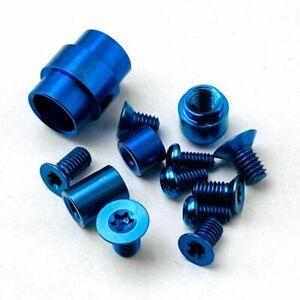 Titanium Complete Tube Clip Hardware Kit For Spyderco Paramilitary 2 PM2-Black