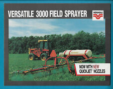 VERSATILE 3000 FIELD SPRAYER 4 PAGE BROCHURE VER 115-04-84