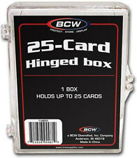 (5) BCW HB25 25 Count Hinged Trading Card Storage Box Case Holder Protect CCG