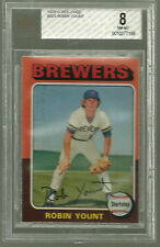 1975 O-PEE-CHEE 223 ROBIN YOUNT HOF ROOKIE BGS BVG 8 OPC MILWAUKEE BREWERS POP 1