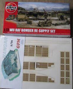 1/72 GPM Flugzeug Hangar  + Airfix RAF Bomber Re Supply Set