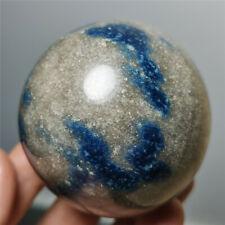 316g Very Rare Blue AZURITE in K2 JASPER Granite Sphere Ball Madagascar 1337