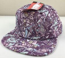 Marvel Superheroes All Over Print Mens Womens Snapback Hat Cap Flat Brim NWT