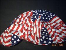 Welders welding biker pipe fitter hat cap American Flag