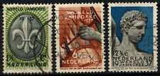 Netherlands 1937 SG#466-468 Boy Scout Jamboree Used Set #D71480