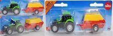 Siku Super 1676 DEUTZ-FAHR Agrotron Traktor & PÖTTINGER BOSS ALPIN Ladewagen