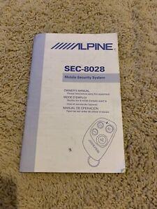 ALPINE SEC-8028 CAR SECURITY ALARM OWNER'S MANUAL