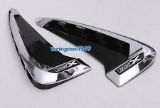 Side Body Marker Fender Air wing Vent Trim Cover Chrome For BMW X5 F15 2014+
