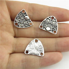 20821 30pcs Alloy Jewelry Antique Silver Findings Totem Heart Triangle Connector