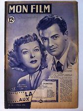 ">Mon Film 8/2/50; ""La Femme aux Cigarettes"" avec Ida Lupino et Cornel Wilde"