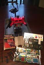 Vintage 1982 Transformers OPTIMUS PRIME w/ Stickers, Accessories & Instructions.