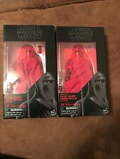 TWO Star Wars Black Series EMPEROR'S ROYAL GUARD ROTJ 6 inch Action Figures