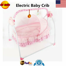 Automatic Electric Baby Crib Cradle Auto Baby Swing Rocking Cot Sleeping Bed Us