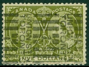 EDW1949SELL : CANADA 1897 Scott #65 Extra Fine, Used with deep color. PSAG Cert
