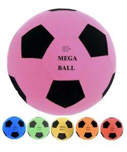 "18"" Giant Mega Ball Inflatable Football Soccer Kids Garden Beach Colourful Toy"
