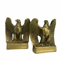 Vintage Federal EAGLE Brass? Cast Iron  Bookends Philadelphia Manufacturing 1776