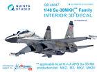 Quinta QD48047 1/48 Su-30 MKK 3D-Printed coloured interior for HobbyBoss kit