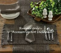 """TWEED TABLE RUNNER GRAY Tones 36"""" x 13"""" CHARCOAL  Park Designs Farmhouse Country"""