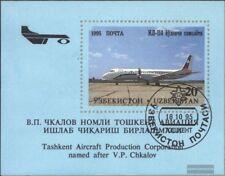 Usbekistan Block8 (kompl.Ausg.) gestempelt 1995 Flugzeuge aus Tschkalow-Werk