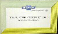 1953 Chevrolet Dealer Pocket Sales Brochure Bel Air Two Ten One Fifty 210 150 GM