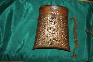 Antique India Middle Eastern Arabic Brass Copper Pocketbook Letter Holder