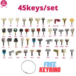 45 Most Popular Heavy Construction Equipment Key Set + Keying / WAH LIN PARTS